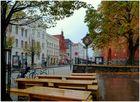 Lübeck im Regen - Breite Straße