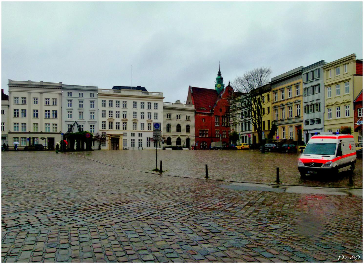 Lübeck im Regen - Koberg