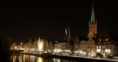 } lübeck night view {