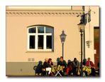 Lübeck - Straßencafe an der Obertrave