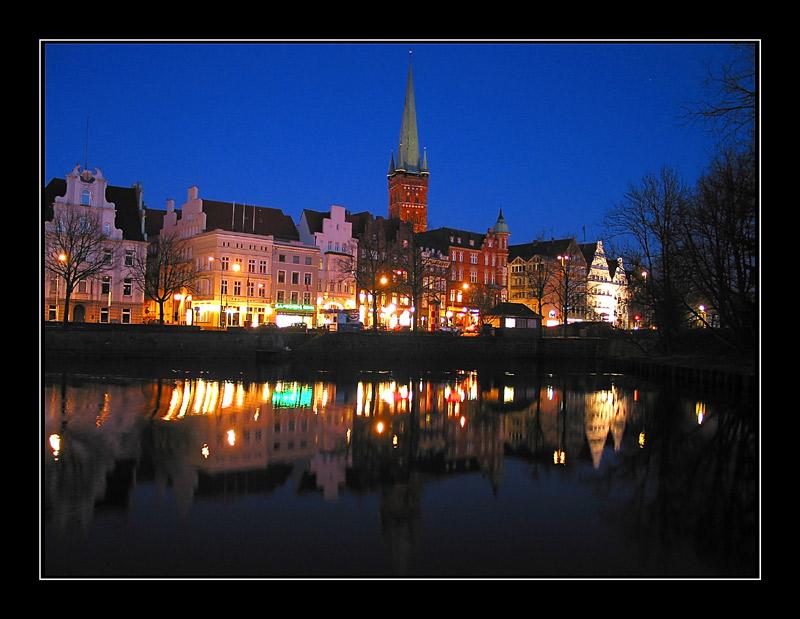 Lübeck - Untertrave am Abend