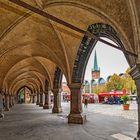 Lübeck`s Markt und Stadtverwaltung