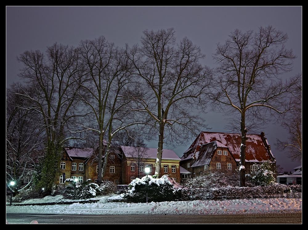 Lüneburg im Schnee - Marienplatz /1.