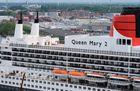 Luftaufnahme der ,, Queen Mary 2 ''