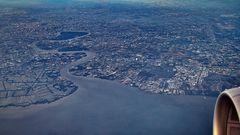 Luftaufnahme Grossraum Bangkok      ©