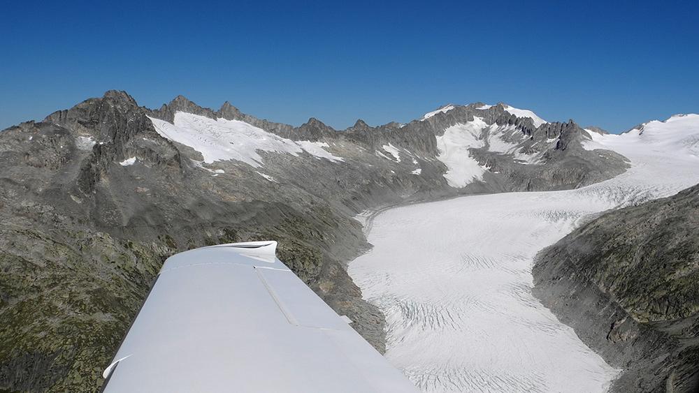 Luftaufnahme Rhonegletscher