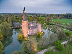 Luftaufnahme Schloss Moyland am Niederrhein