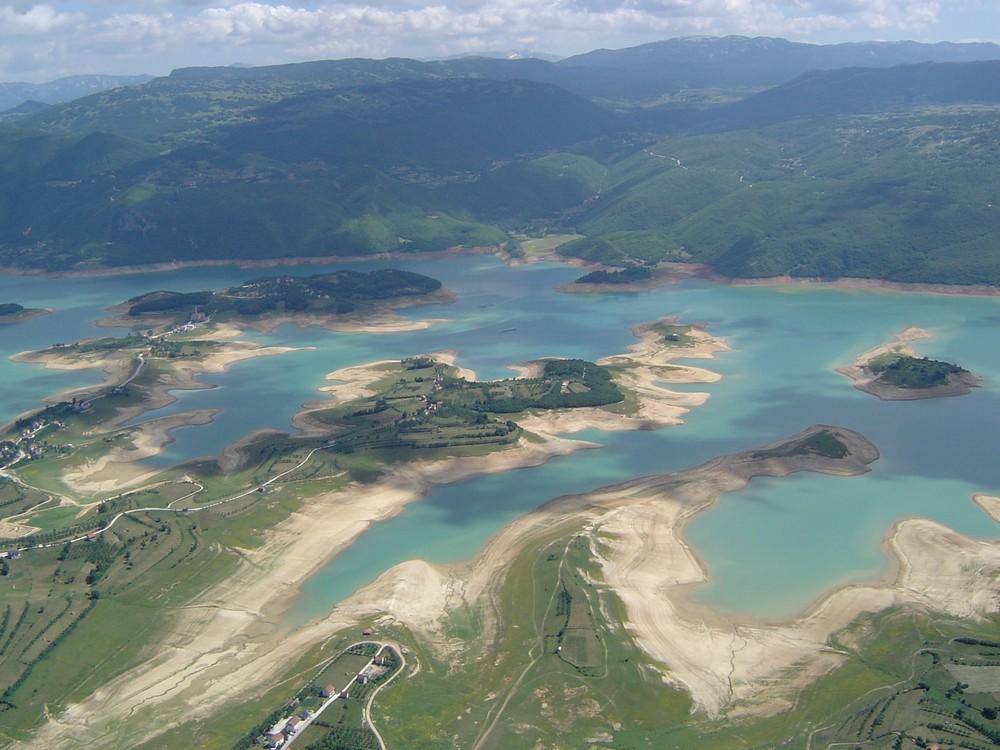 Luftaufnahme über Bosnien