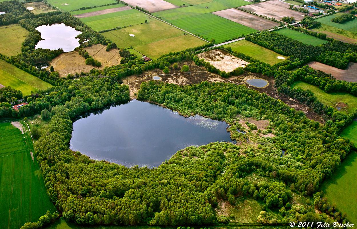 """Luftaufnahme vom Naturschutzgebiet  """"Heilges Meer"""""""