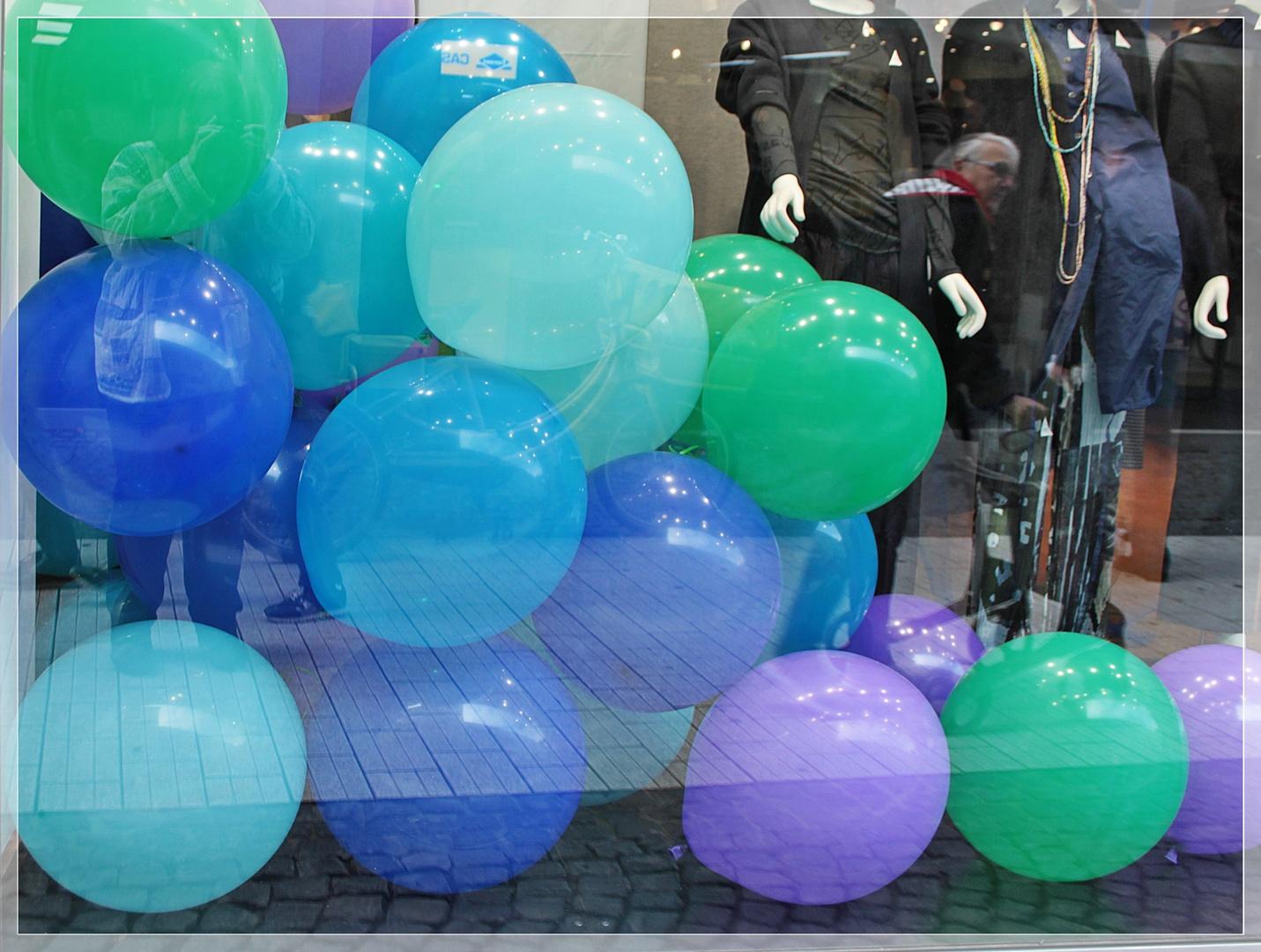 Luftballons mit Selfie