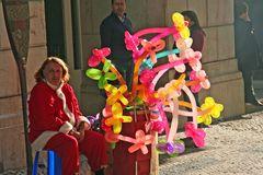 Luftballonverkäufer 2mal color Lissabon Ü1016K Dez17