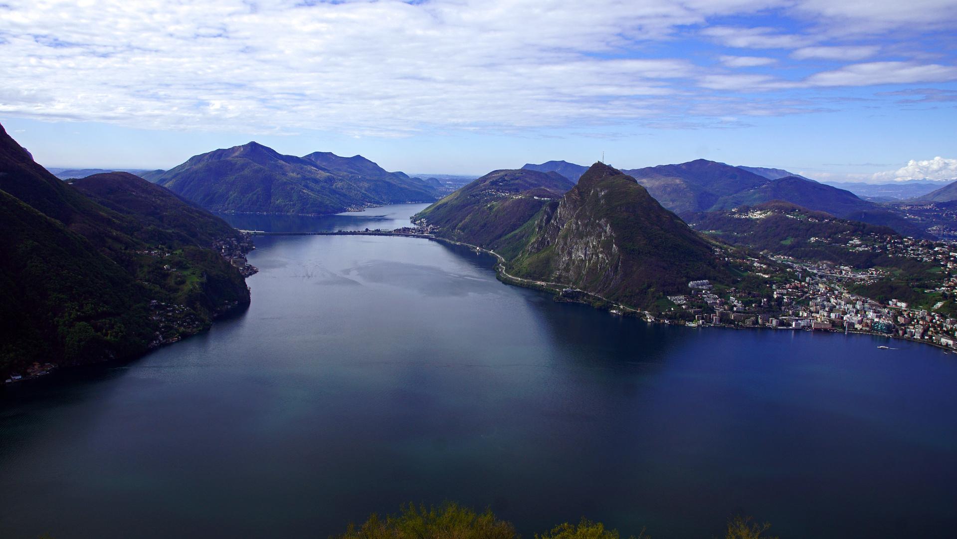 Luganer See vom Monte Bre 1