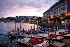 Lugano am Abend