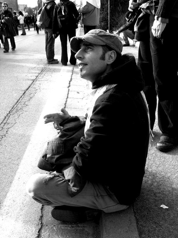 lui si riposa ........alla manifestazione