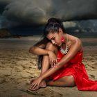 Luisa on the beach