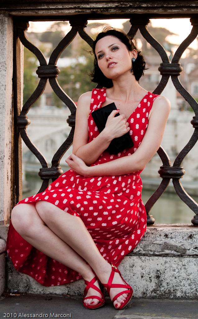 Lulù on the bridge