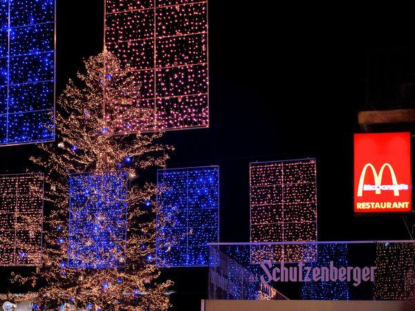 Lumière de fête de Noël à Strasbourg…