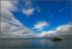 Lumière d'orage sur la baie de Morlaix