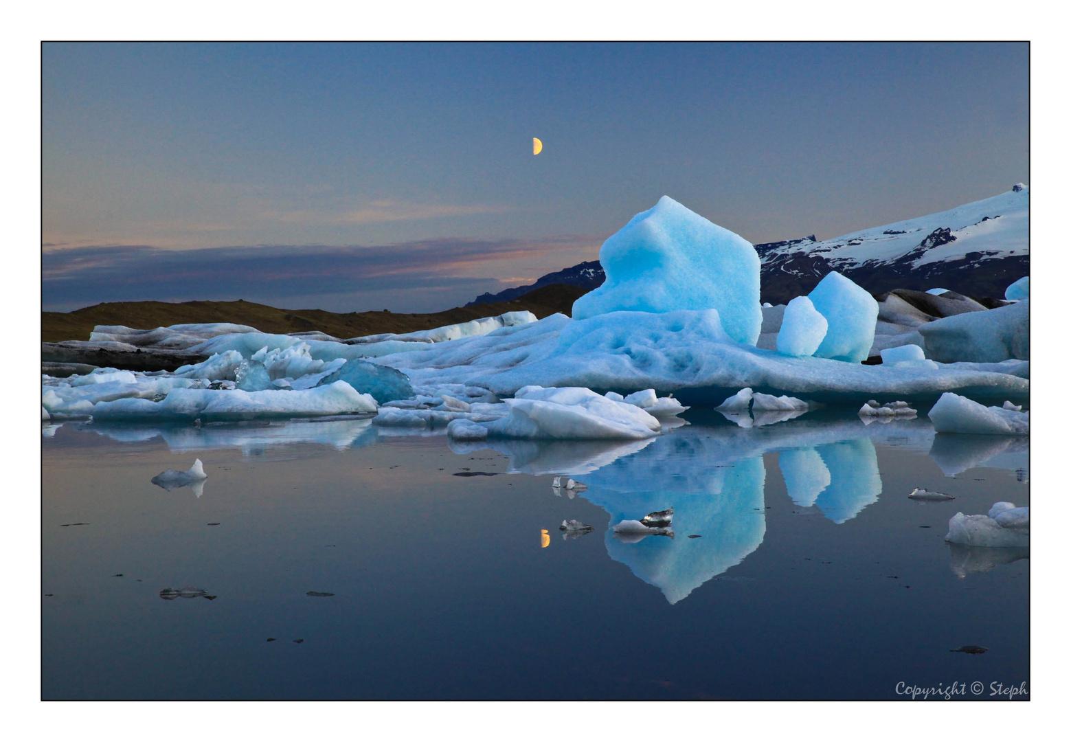 Lumières d'Islande XX - Le lac Glaciaire Jokulsarlon