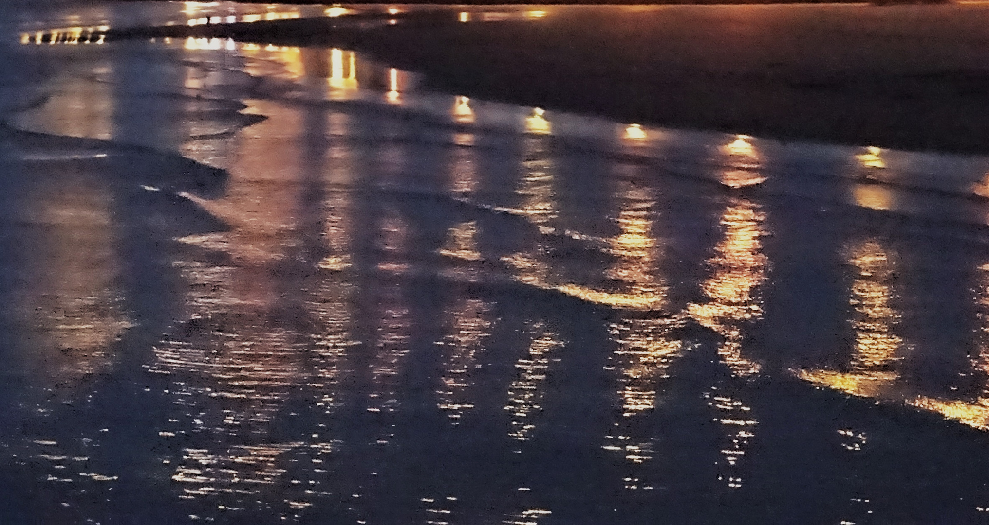 Lumières du soir sur la mer