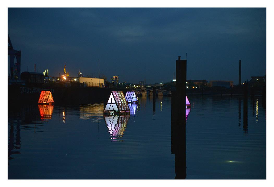 Luminale 2014 am Hafen