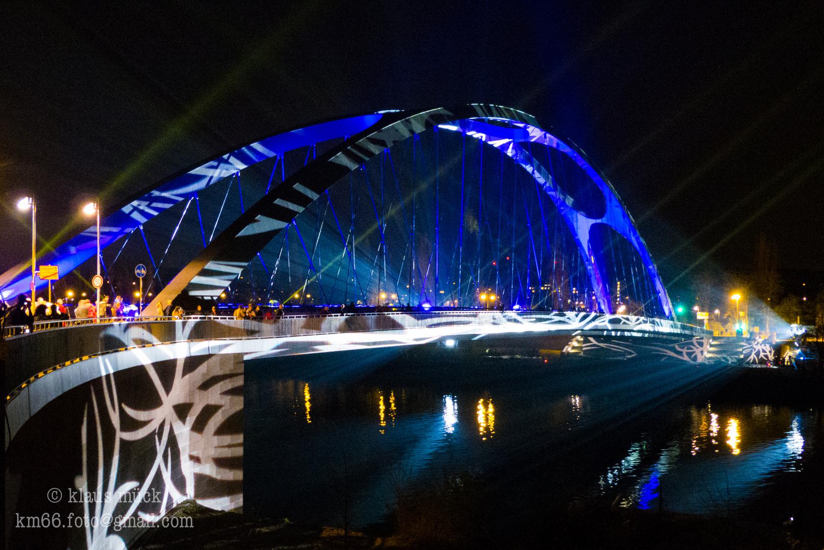 Luminale 2014 Frankfurt, Osthafenbrücke