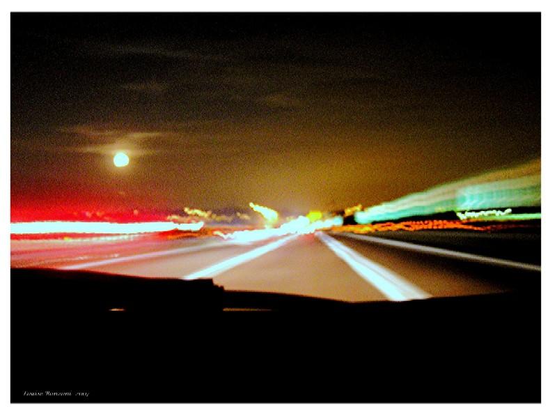 Luna in autostrada (130 km/h)