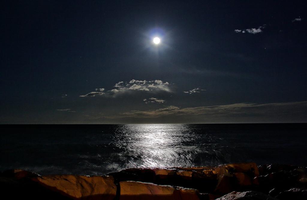 Luna Piena Sul Mare Foto Immagini Paesaggi Mare Natura Foto Su