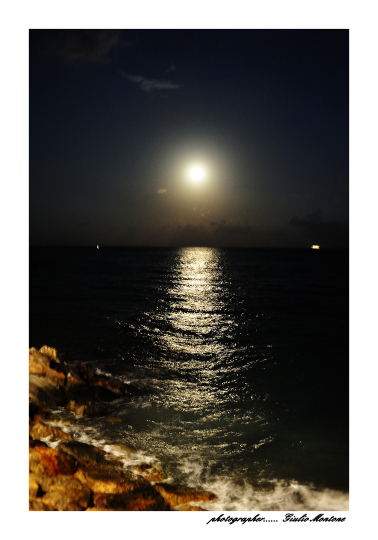 Luna Sul Mare Foto Immagini Paesaggi Mare Natura Foto Su