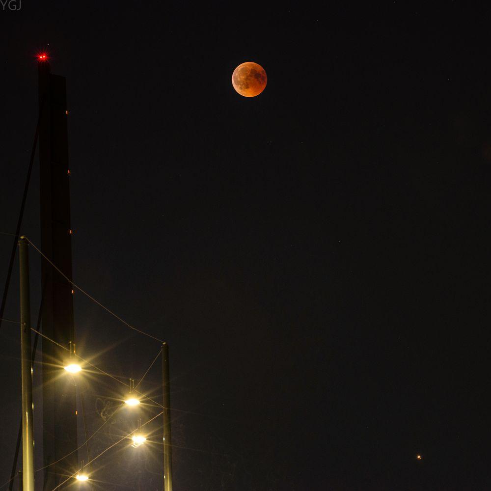 Lunar Eclipse Mars 2018 Düsseldorf