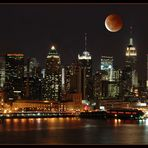 Lunar Eclipse over Manhattan