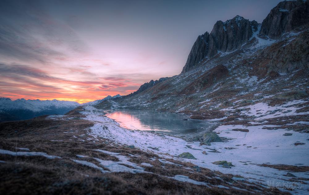 ~ Lutersee: Abendrot über dem Eis ~