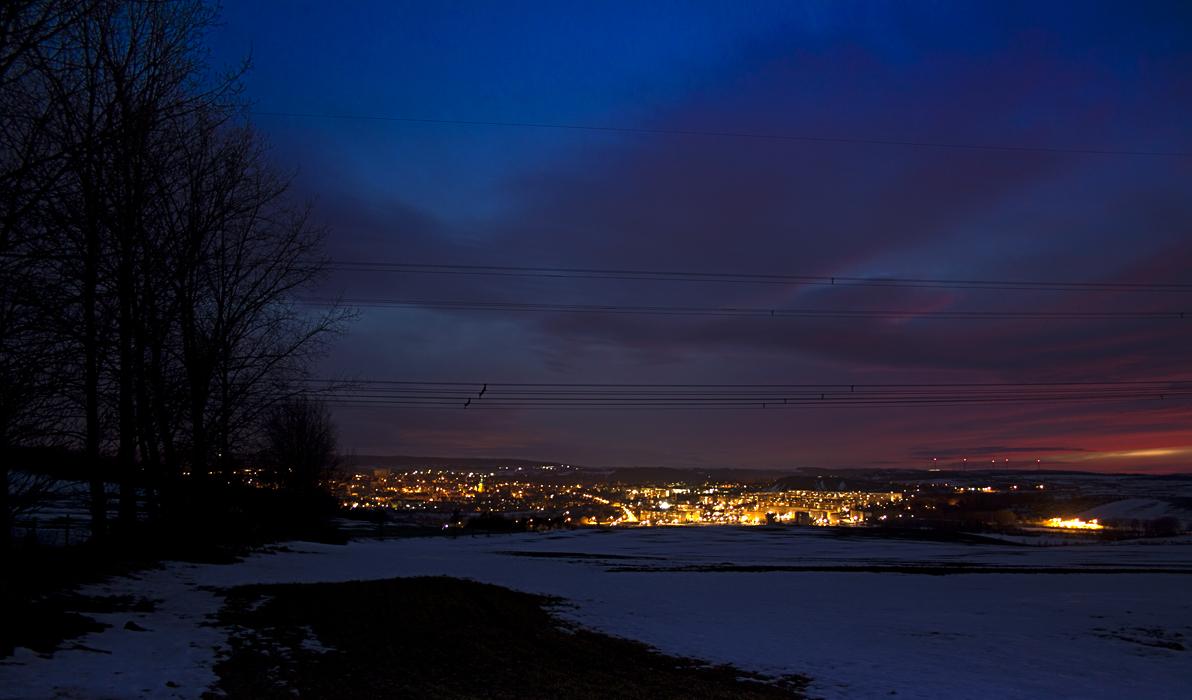 Lutherstadt Eisleben am Abend
