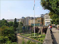 Luxemburg - Am Place de la Constitution