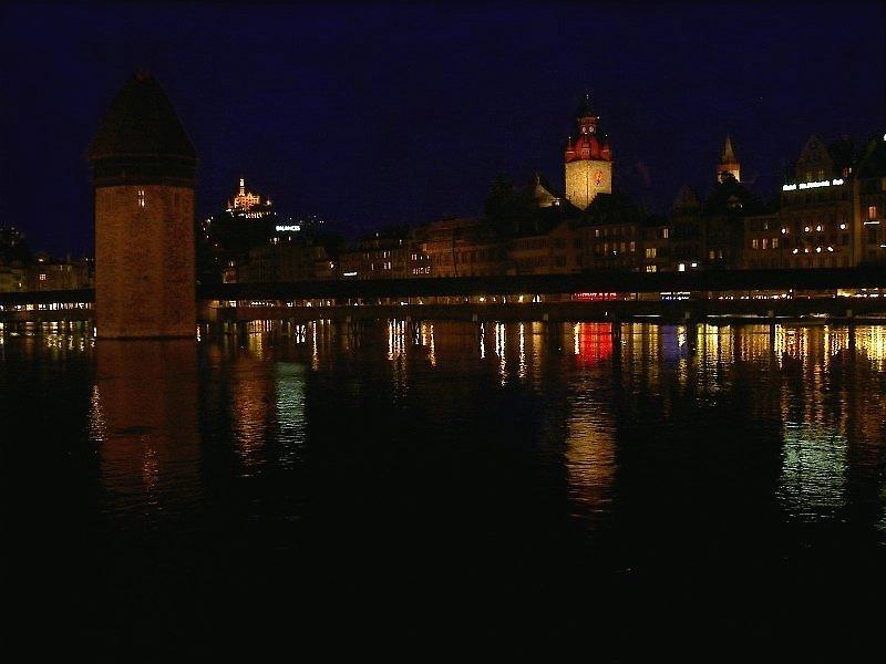 Luzern at Night and City Lights - Überarbeitete Version...