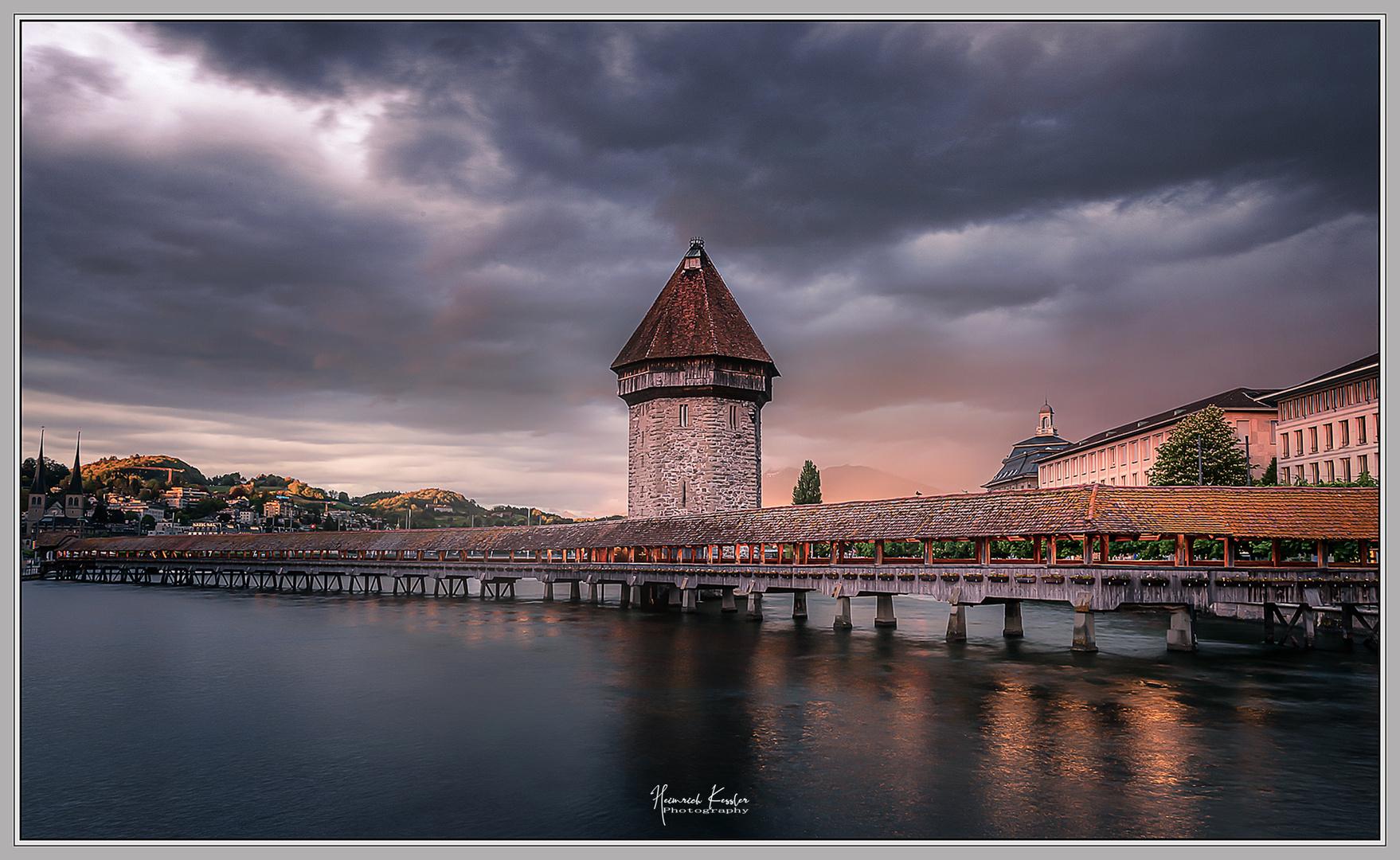Luzern blaue Stunde