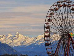 Luzern - Blick in die Berge