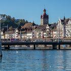 Luzern mit Seebrücke