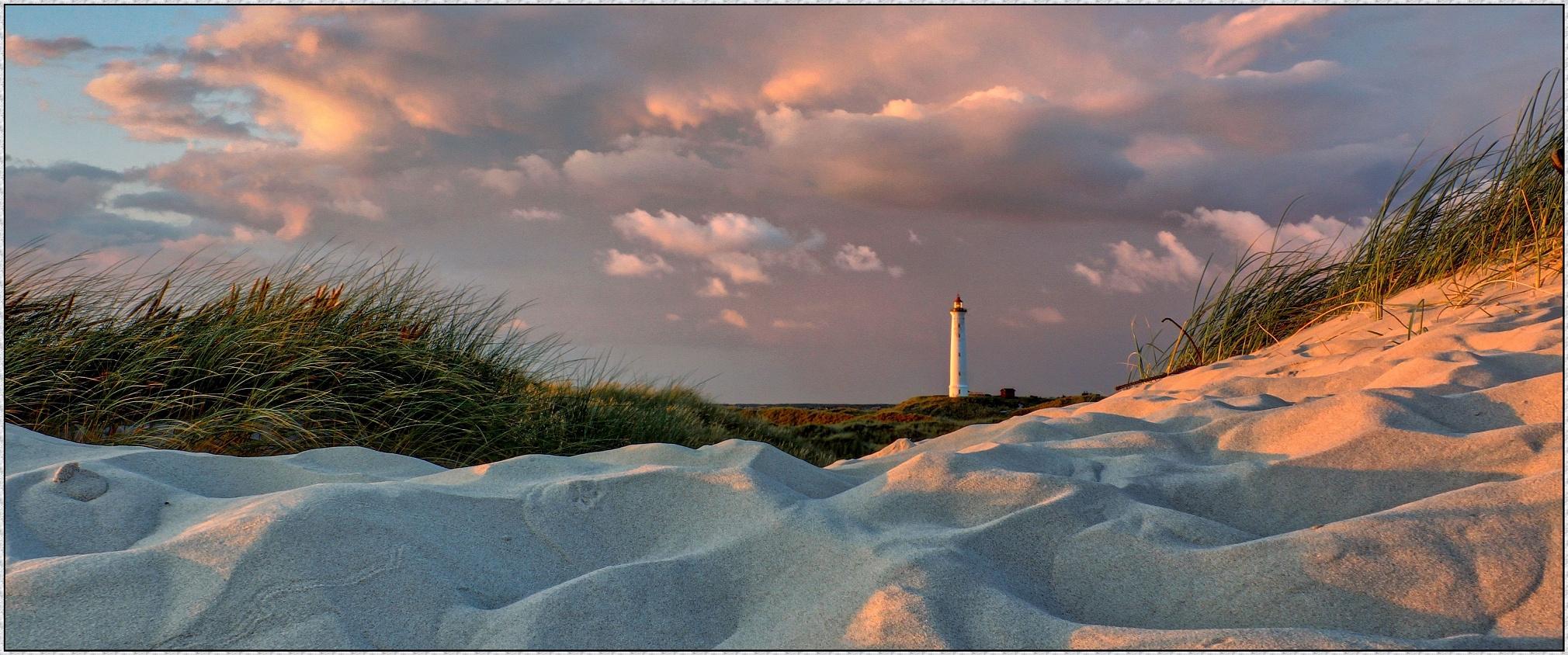 Lyngvig Fyr; Leuchtturm  südlich von Søndervig  (Dänemark 2017)