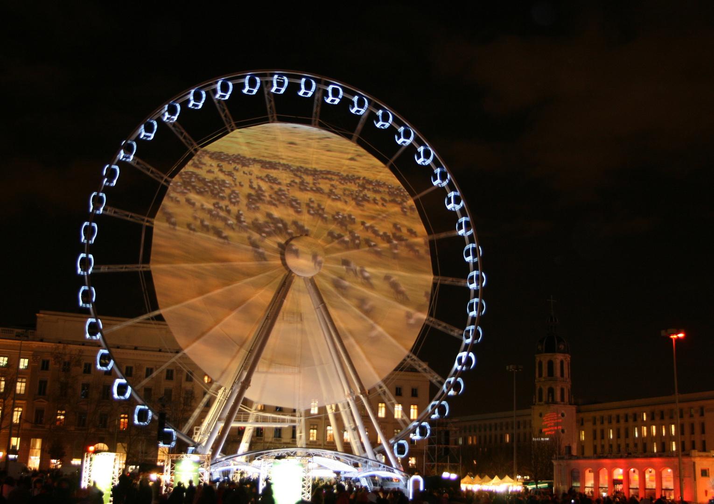 LYON La grande roue illuminée