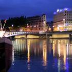 Lyon par une nuit bleue