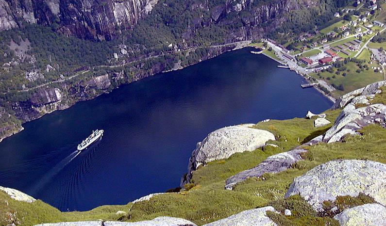 Lysebotn am Ende des Lysefjords
