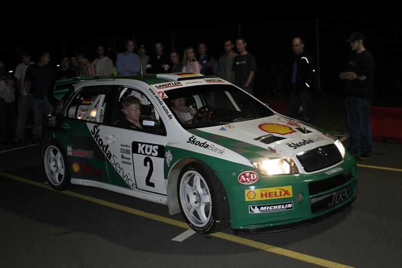 M. Kahle nach dem ShakeDown bei der Saarland-Rallye 2005