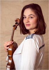 M. mit ihrer Geige