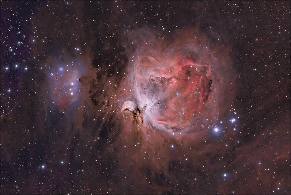 M42, der Orionnebel (HaRGB als 64 Bit HDR mit 12h Belichtungszeit)