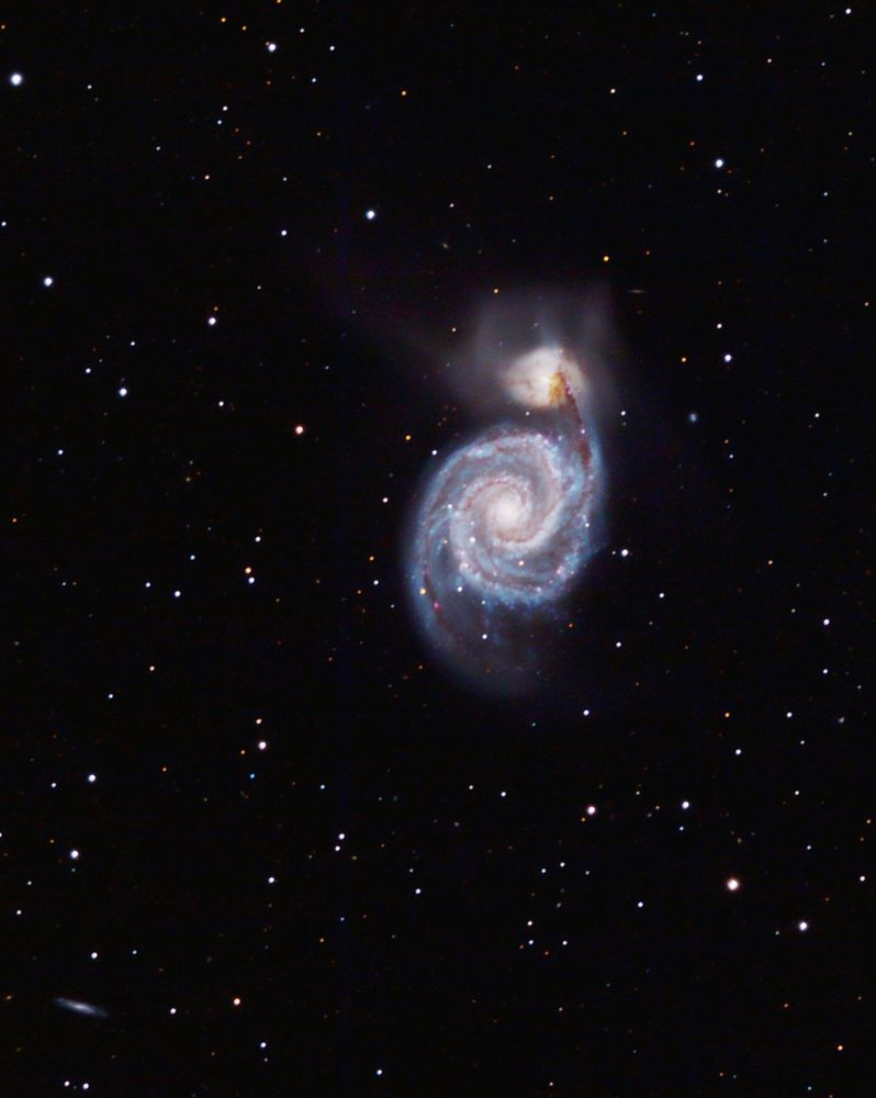 M51 Galaxie im Sternbild Jagdhunde (Canes venatici)