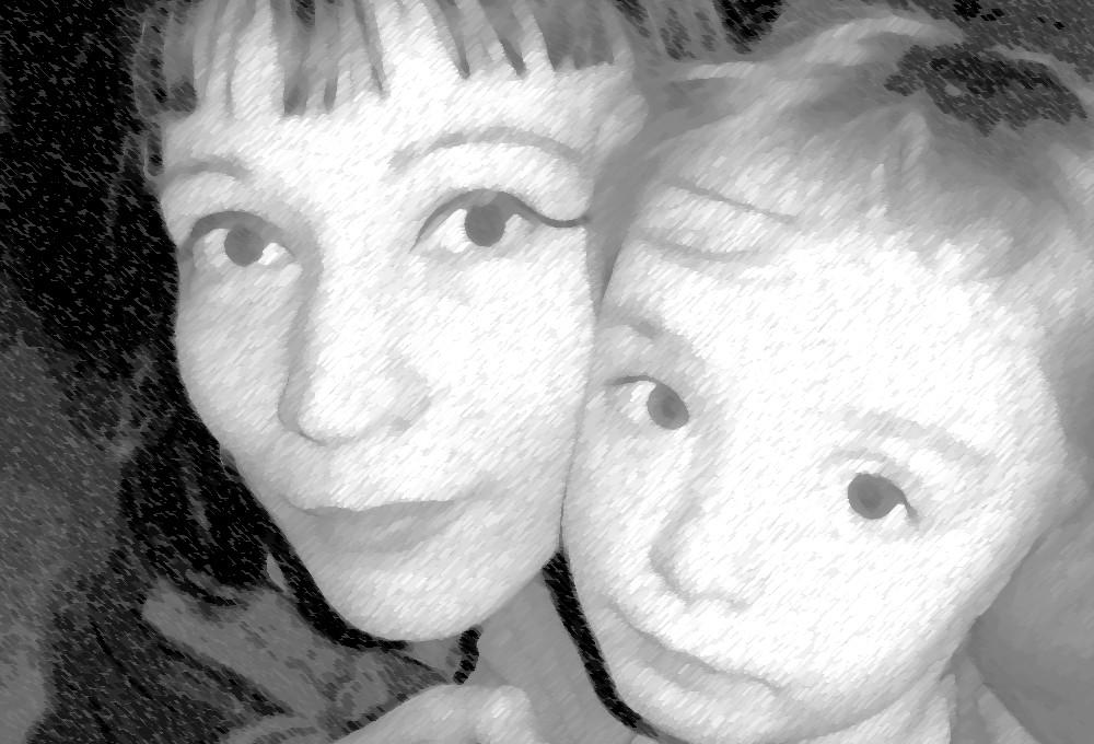 Ma 2e fille et moi......(pris par moi...toujours!!)