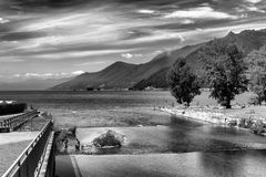 Maccagno, foce del fiume Giona