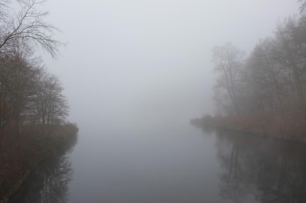 Machnower See, Blickrichtung Schleuse