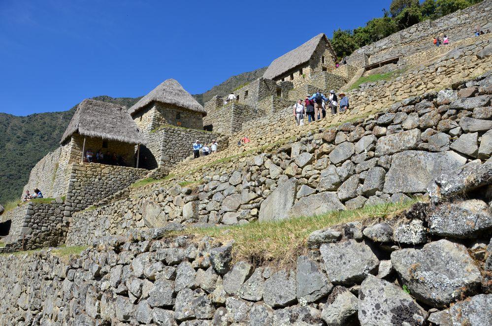 Machu Picchu von unten